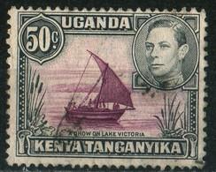 Uganda Kenya Tanganyka 1949 Georges VI 50 C Dhow Lake   Used - Kenya, Uganda & Tanganyika