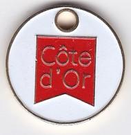 Jeton De Caddie Metal - COTE D'OR - Conseil Général - Jetons De Caddies
