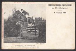 Spa - Concours Hippique International 5 - 19 Août 1906 - Conquérant A.M. Loevenstein - Spa