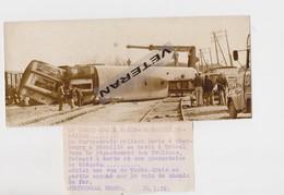 BREVAL  78 YVELINES ACCIDENT  SNCF CHEMIN DE FER TURBO TRAIN PARIS CAEN   CHERBOURG   PHOTO DE PRESSE  14 3 1972 - Treinen