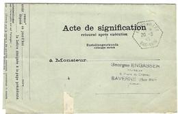 Agence Postale  ADAMSWILLER Cachet Hexagonal Perlé Type F4 En Franchise - 20.8.1945 - Marcophilie (Lettres)