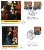 """BRD 2 Schmuck-FDC """"Weihnachten 1994"""" Mi.2x 1770+1771 ESSt 9.11.1994 BERLIN 12 - FDC: Covers"""
