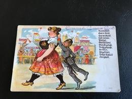 1615 - Gruss Vun Mannemer Mess! Riesenmaid Kam In Streit.... - Humoristiques