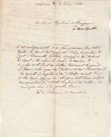 Lettre De NARBONNE Aude 25/1/1840 Où Il Est Question De L'étang De Gruissan, Du Canal De La Robine Pour Montpellier - Manuscripts