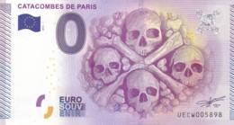 """FRANCE / Billet Touristique / Souvenir 0 €uro - 2015 """" CATACOMBES DE PARIS  """". - Essais Privés / Non-officiels"""