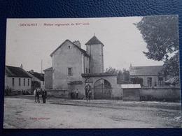 """GEVIGNEY.70.CPA.""""Maison Seigneurial Du XVème Siècle"""".éditeur Union Artistique Jussey.animée=personnes,cheval. - France"""