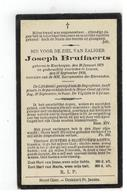 DP Joseph Bruffaerts Geboren Keerbergen 1875,gestorven Leuven 1932,begraven Heist-Goor - Religion & Esotérisme