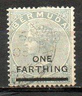AMERIQUE DU NORD - BERMUDES - (Colonie Britannique) - 1900 - N° 24 - 1 F. S. 1 S. Gris - (Surchargé :ONE FARTHING) - Bermuda