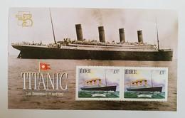 IRLANDE / EIRE 1999 MNH Expo AUSTRALIA 99 TITANIC Histoire De La Marine / SHIPS 1 BLOC NEUF - 1949-... Republik Irland