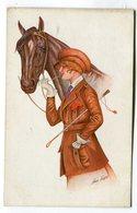 CPA  Illustrateur : Xavier  SAGER   équitation Féminine Avec Cheval    VOIR DESCRIPTIF  §§§ - Sager, Xavier