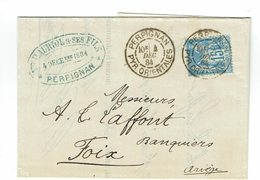DAGUIN PERPIGNAN  Jumelée 1884  1ère Année Daguin   M36 - Sellado Mecánica (Otros)