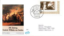 """BRD Schmuck-FDC """"200. Todestag Von Friedrich Wilhelm Von Steuben"""" Mi. 1766 ESSt 9.11.1994 BERLIN 12 - FDC: Covers"""