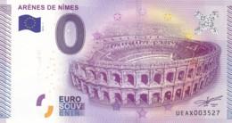 """FRANCE / Billet Touristique / Souvenir 0 €uro - 2015 """" ARENES DE NÎMES """". - Essais Privés / Non-officiels"""
