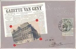 Souvenir De Gand 1906 Avec Vigniette Expo De Liége - Gent