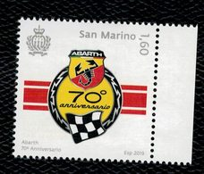 San Marino 2019 Abarth 70° Anniversario 1v  Complete Set** MNH - Saint-Marin