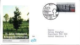 """BRD Schmuck-FDC """"75 Jahre Volksbund Deutsche Kriegsgräberfürsorge"""" Mi. 1768 ESSt 9.11.1994 BONN 1 - FDC: Covers"""