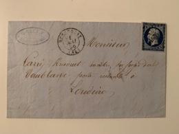 Lettre HENNEBONT PC 1536 - 1853-1860 Napoleone III