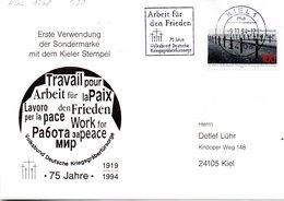"""BRD Sonder-FDC """"75 Jahre Volksbund Deutsche Kriegsgräberfürsorge"""" Mi. 1768 ETMSSt 9.11.1994 KIEL 1 - [7] Federal Republic"""
