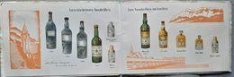 38 CHARTREUSE LIQUEURS GRANDE  CHARTREUSE TARRAGONE DEPLIANT PUBLICITAIRE ILLUSTRE EN COULEUR 1934 - Autres Collections