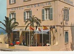 Carte Postale. Maroc. Tanger. Hôtel Restaurant Massilia. Etat Moyen. - Hotels & Restaurants