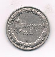 1 LIRE  1922  R ITALIE /378// - 1861-1946 : Kingdom