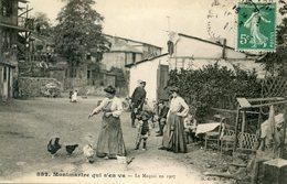 75  PARIS 18e AR    MONTMARTRE QUI S'EN VA  LE MAQUIS EN 1907 - Arrondissement: 18
