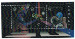 San Marino 2019 50° Anniv. Moon Landing - Sbarco Dell'uomo Sulla Luna  3v In Foglietto Complete Set ** MNH - Unused Stamps