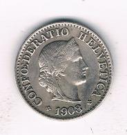 5 RAPPEN 1908 ZWITSERLAND /379/ - Zwitserland