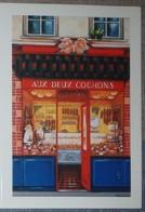 Petit Calendrier Poche 2007 Illustration échope Boutique - Aux Deux Cochons - Kalenders