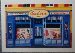 Petit Calendrier Poche 2007 Illustration échope Boutique - Tendresse Lingerie Fine - Kalenders