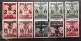 Pologne 1940 / Yvert N°30-39 / * / Timbres De Pologne Surchargés - 1939-44: 2ème Guerre Mondiale