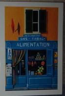 Petit Calendrier Poche 2007 Illustration échope Boutique -alimentation Restaurant Café Tabac - Kalenders