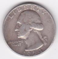 Etats-Unis , Quarter Dollar 1954 D Denvers,  Washington , En Argent - Emissioni Federali
