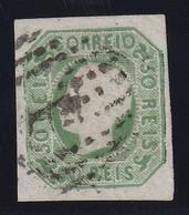 Portugal 1862 Michel Nr. 15 50 R. König Vollrandiges Gestempeltes Prachtstück, Michel 110,-€, Yvert No. 16 - Usati