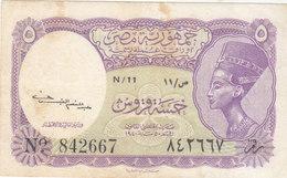 EGYPT 5 PT. PIASTRES 1952 P-174a SIG/Kaissony Water Mrk PYRAMIDS VF N/11 - Egypt