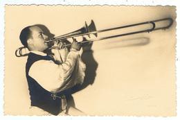 """Carte-photo D'un Trompettiste De Jazz / Ed. """" Fotoreflex """" - Musique Et Musiciens"""
