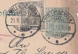 Ostpreussen Deutsches Reich Karte Mit Tagesstempel Willkischken Kr Tilsit 1916 - Allemagne