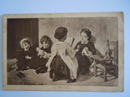La Belle Histoire Enfants Poupée Pub Reclame AXA Margarine Gelopen 1936 - Schilderijen