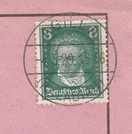Ostpreussen Deutsches Reich Karte Mit Tagesstempel Agilla Kr Labiau 1929 Werbung - Deutschland