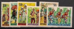 Guinée - 1966 - N°Yv. 287 à 292 - Danses - Neuf Luxe ** / MNH / Postfrisch - Guinea (1958-...)