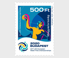 H01 Hungary 2020 34th Len European Water Polo Championships MNH Postfrisch - Ungarn