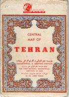 VP16.666 - IRAN - Carte - TEHERAN - Central Map Of TEHRAN 1961 - Mappe