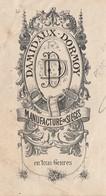 1892 / DAMIDAUX DORMOY / Manufacture De Sièges / Hardémont / Près La Chapelle Aux Bois / 88 Vosges - 1800 – 1899