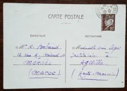 Entier Postal 512-CP2 - TYPE PETAIN - Envoyé Du Maroc - 1942 - Postwaardestukken