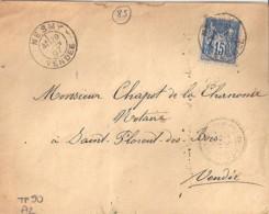 85 - VENDEE - NESMY   TàD De TYPE A2 De 1897 - Manual Postmarks