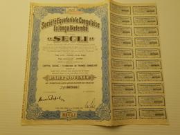 Titres Belge Secli à Wendji, Congo Belge - Shareholdings