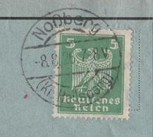 Ostpreussen Deutsches Reich Karte Mit Tagesstempel Noßberg Kr Heilsberg RB Königsberg 1926 - Deutschland