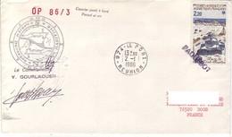 FSAT TAAF Marion Dufresne. 02.01.86 Le Port Reunion OP 86/3 - Lettres & Documents