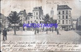 128256 BELGIUM ANVERS SQUARE ST ANDRE SPOTTED POSTAL POSTCARD - Belgique