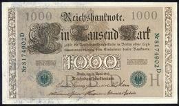 Deutsches Reich 21. April 1910, 1.000 Mark, P45-b - [ 2] 1871-1918 : German Empire